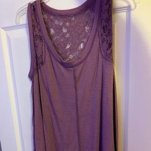 Purple Forever 21 Tank Top With Lace Size Large